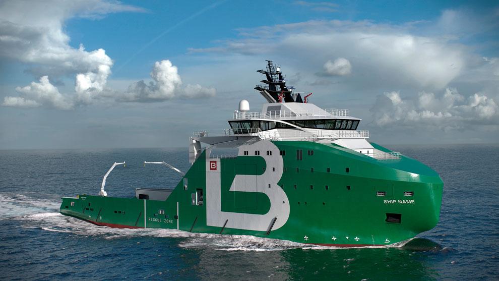 maritimt offshore de forste forsyningsskip
