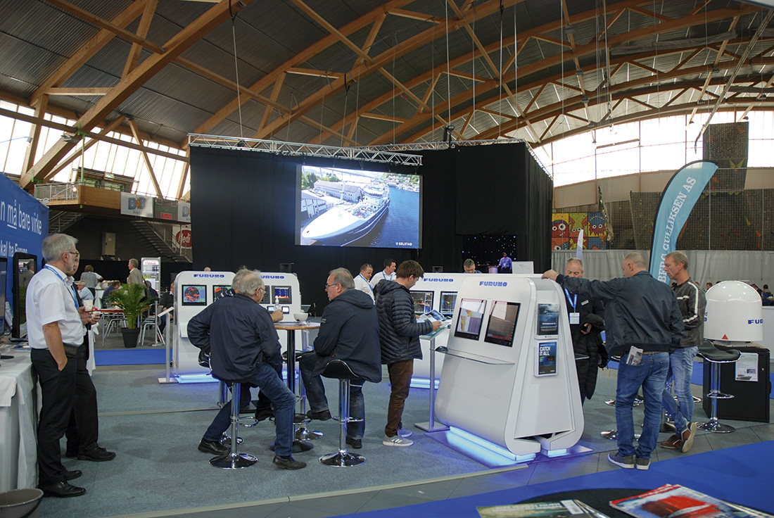 Furuno var til stede på BlueFish i 2017 og vil også bli å finne på årets arrangement i Sparebanken Møre Arena. Foto: Kurt W. Vadset