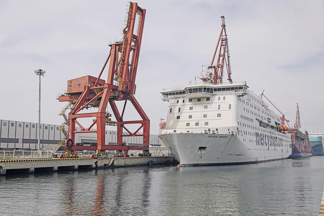 Global Mercy er snart klart for seiling. Alle foto: Mercy Ships