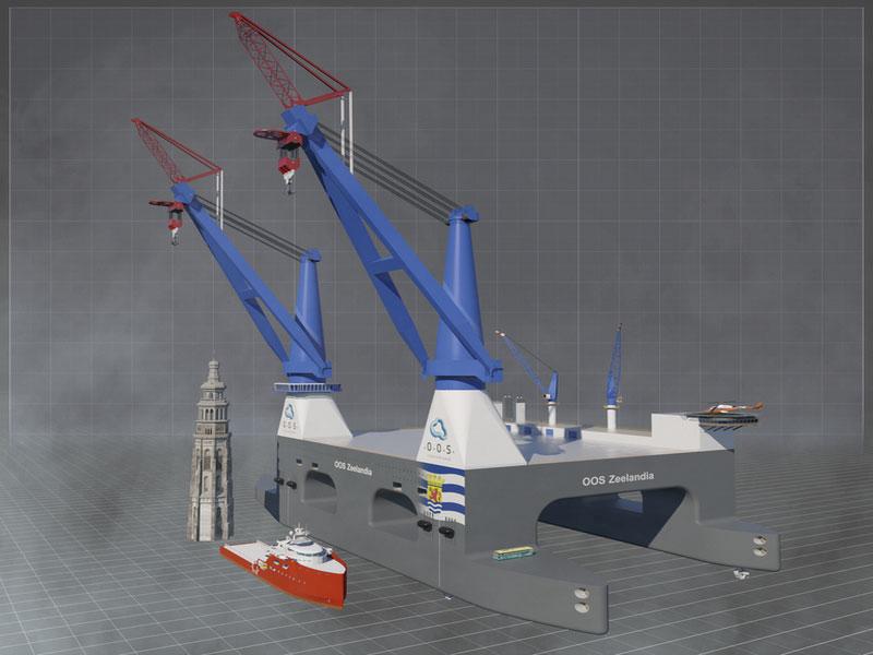 Foreløpige skisser av OOS Zeelandia som er planlagt bygd ved China Merchants Industry. Illustrasjon: OOS International