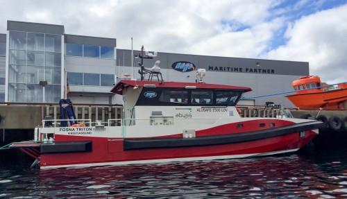Bilde av Fosna Triton, den forrige båten Abyss Aqua fikk levert fra verftet. Foto: Maritime Partner