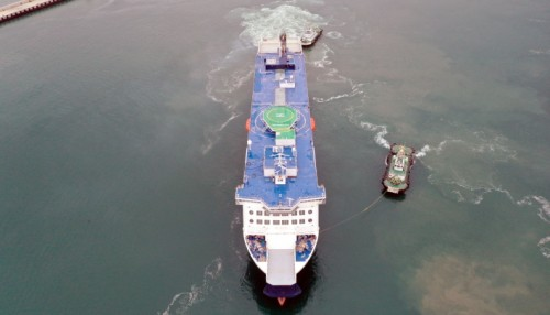 Cote d Opale is delivered six weeks ahead of schedule