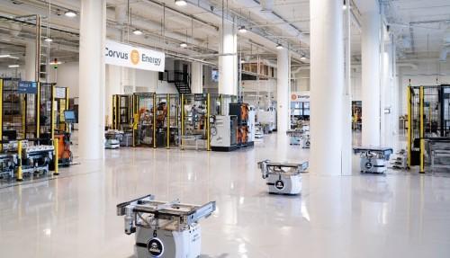 Corvus sin helautomatiske batterifabrikk som i Bergen ble åpnet i 2019. Foto: Corvus