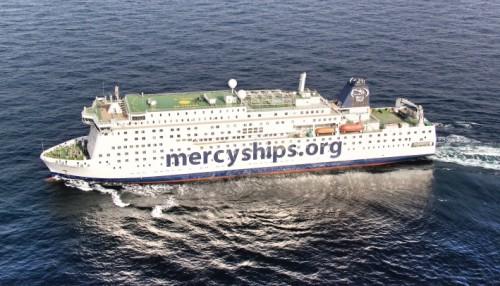 Sykehusskipet Global Mercy. Foto: Tianjin Xingang Shipyard/Stena RoRo.