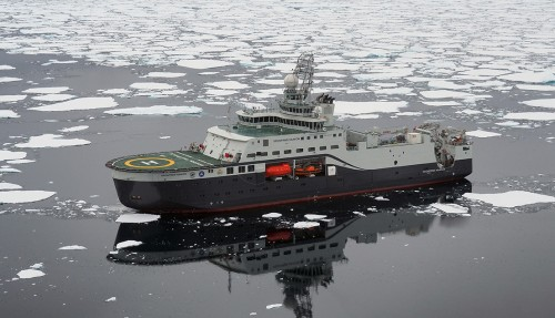 FF Kronprins Haakon skal døpes i Tromsø. Foto: Ann Kristin Balto, Norsk Polarinstitutt.