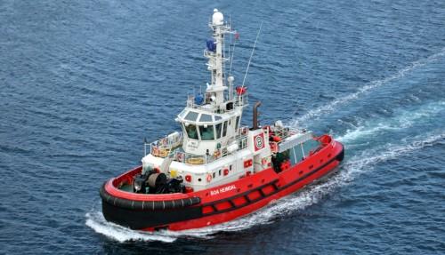 BOA Heimdal er en av to slepebåter som sendes fra Norge til Afrika-kysten. Foto: BOA