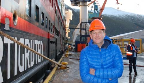 Konsernsjef i Hurtigruten, Daniel Skjeldam, er stolt over de kommende ekspedisjonscruiseskipene. Foto: Kurt W. Vadset