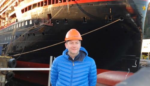 Konsernsjef Skjeldam sier det er beklagelig at skipene er forsinket, men han tror ikke det har gått utover rederiets omdømme. Foto: Kurt W. Vadset