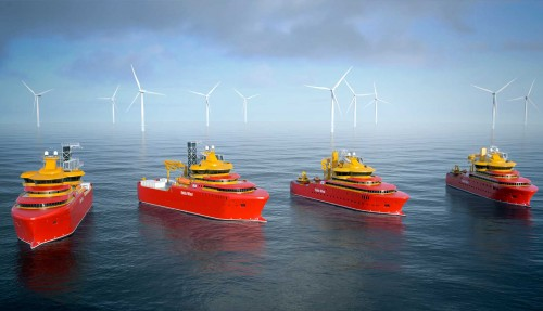 Østensjø Rederi får bygd fire havvindskip hos Astilleros Gondan. Illustrasjon: Salt Ship Design/Østensjø