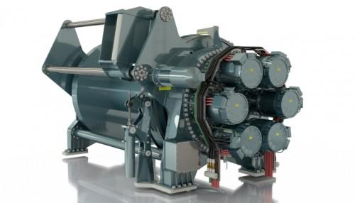 Nye Liafjord utstyres med Evotecs MultiSoft vinsjer. De elektriske vinsjene arbeider mot en batteripakke som også gjør det mulig å regererere strøm. Illustrasjon: Evotec