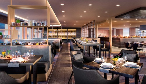 Hovedrestauranten forvandles til Restaurant Aune. Illustrasjon: Hurtigruten