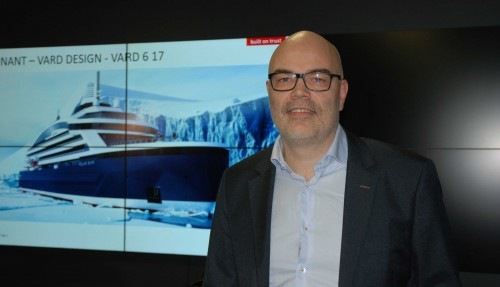 Frode Klokk, verftsdirektør på Vard Søviknes. Foto: Kurt W. Vadset