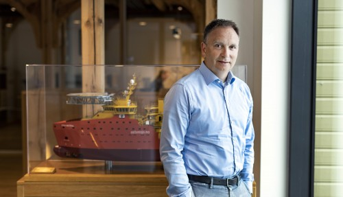 Håvard Framnes, investeringsdirektør i Johannes Østensjø dy AS og styremedlem i Hydrogenious LOHC Maritime. Foto: Østensjø Group.