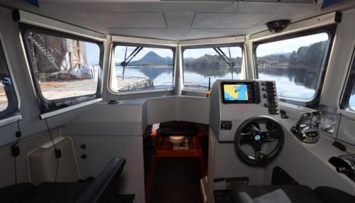 Støydemping og bruk av kvalitetsmaterialer og komponenter sikrer et godt arbeidsmiljø om bord. Foto: Hukkelberg Boats