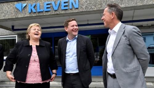 Erna Solberg, Daniel Skjeldam og Ståle Rasmussen