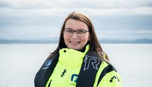 Linn Holmen, Konserleder Kvalitet, er godt fornøyd med samarbeidet med Aquastructures. Foto: Frøy.
