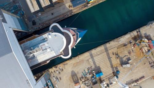 Skipet er ein moderne og sikker plattform for polarutforsking.  Foto: Ulstein Group / Per Eide Studio