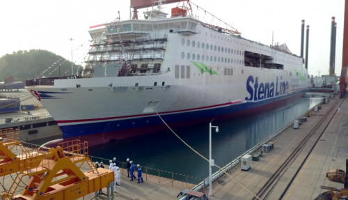 All five vessels are delivered gas-ready, to allow conversion to methanol or LNG fuel. Photo: CMI Jinling Weihai Shipyard
