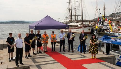 Båten ble døpt i Oslo mandag 7. juni. Foto: Maritime Partners.