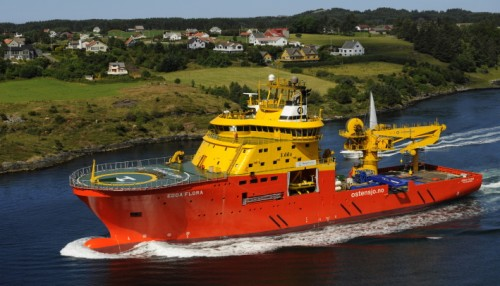 Hybrid propulsion is an area of technology where Wärtsilä excels, and will allow the Edda Flora to operate with less engine use. Photo: Østensjø Rederi