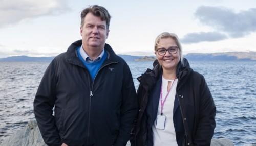 Daglig leder Kristian Digre og messeansvarlig Kari Steinsbø forsikrer om at det blir Aqua Nor i 2021 – i en eller annen form. Foto: Stiftelsen Nor-Fishing