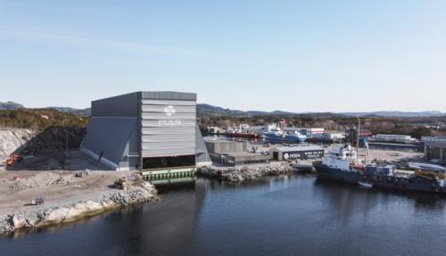 Den nye tørrdokken på Purkholmen i Nærøysund. Foto: LYKT Foto & Film