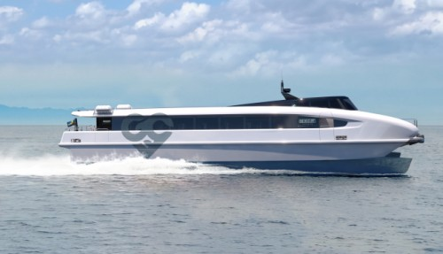 Beluga24 is based on proven air-foil technology. Illustration: Green City ferries.
