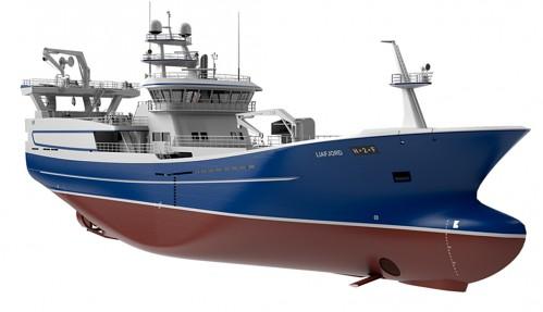 Liafjord blir utstyrt med elektriske vinsjer fra Evotec og en batteripakke for drift og regenerering. Salt Ship Design