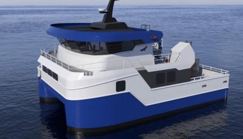 En notvaskekatamaran bygges av Ørnli Slipp, og leveres i april 2020. Ill: Ørnli Slipp