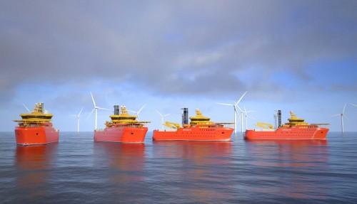 Østensjø Rederi ser en betydelig vekst i offshore vindmarkedet. Illustrasjon: Salt Ship Design