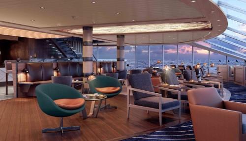 Interiørillustrasjon av skipene, som skal stå klare i 2019. Ill: Hurtigruten