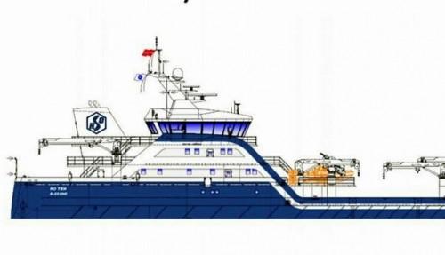 En ny motorb vil bli installert på en ny brønnbåt bestilt av Rostein AS og buygget ved Larsnes Mek. Illustrasjon: Skipskompetanse.