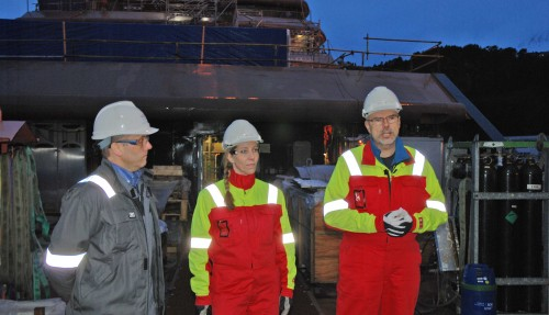 Øystein Mikelborg (t. h.) er Operational Director i REV Ocean. Foto: Kurt W. Vadset