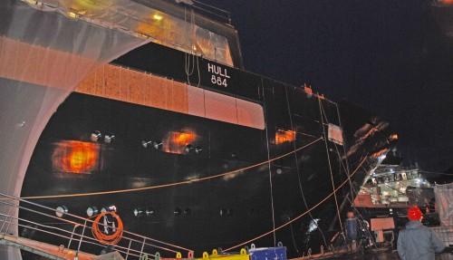 Vard Brattvåg skal være ferdig med REV Ocean før sommeren 2020. Foto: Kurt W. Vadset