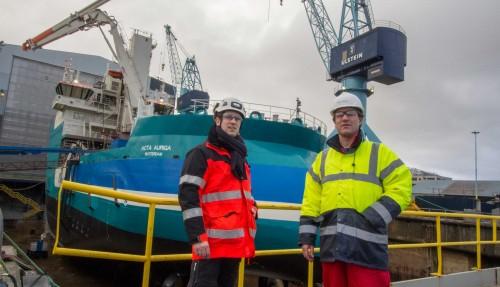 Sebastian Zehmka fra Marahrens og Erik Willemssen fra Acta Marine.