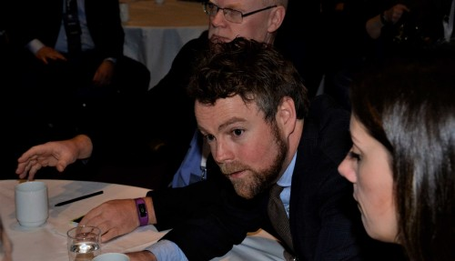 Den nye skipsfartsministeren møtte næringen under Haugesundkonferansen. Foto: Thomas Førde