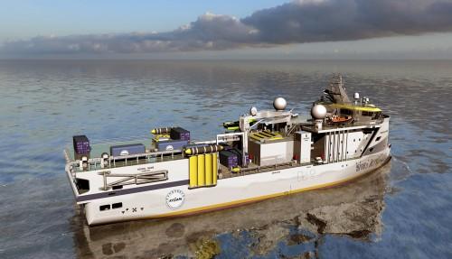 Fartøyet vil fungere som ein base for opp til 30 forskarar. Foto: Ulstein.