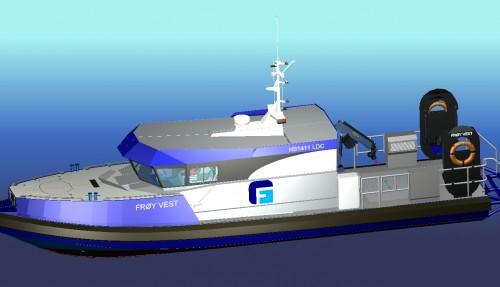 Hukkelberg bygger et hurtiggående dykkerfartøy for Frøygruppen. Levering er i januar 2020. Ill: Hukkelberg Boats