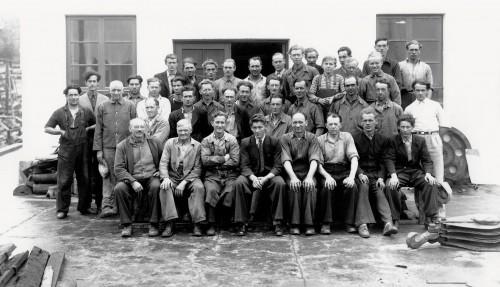 Arbeidsstokken i Ulstein Mek. i 1948. Arkivfoto: Ulstein Verft