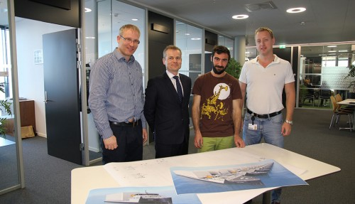 Thomas Olsvik, Runar Vågnes, Antonin Barrier Moulis og Erik Hellan Sandnes