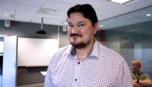 Prosjektleder Christian Hovden. Foto: USN