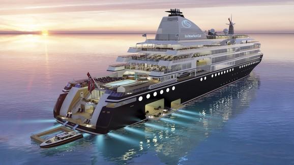 Nybygget blir en elegant yacht som er utviklet av rederiet. Alle foto og illustrasjoner: SeaDream