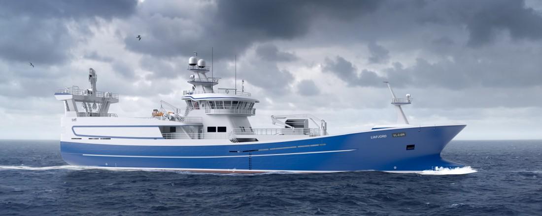 Liafjord får en integrerte systempakken designet med fokus på brukervennlighet, bærekraft og lavest mulig energiforbruk.  Illustrasjon:  Salt Ship Design AS.