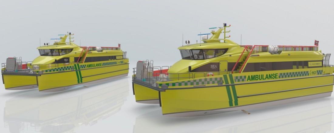 De to nye fartøyene er planlagt å være i drift fra 1. mai 2022. Illustrasjon: Sea Technology