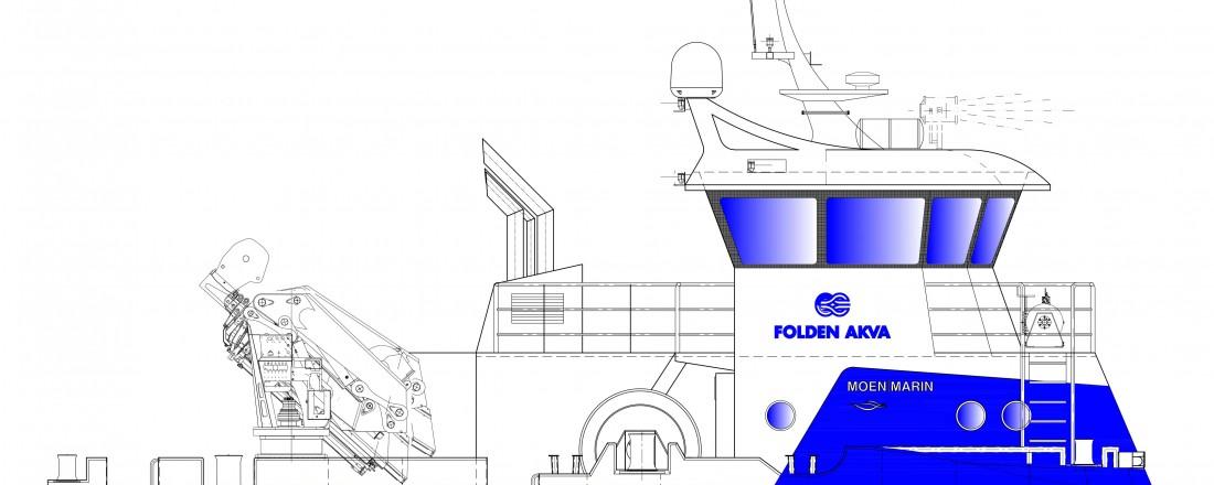 Trykk på bildet, for å se hele båten. Tegning: Moen Marin