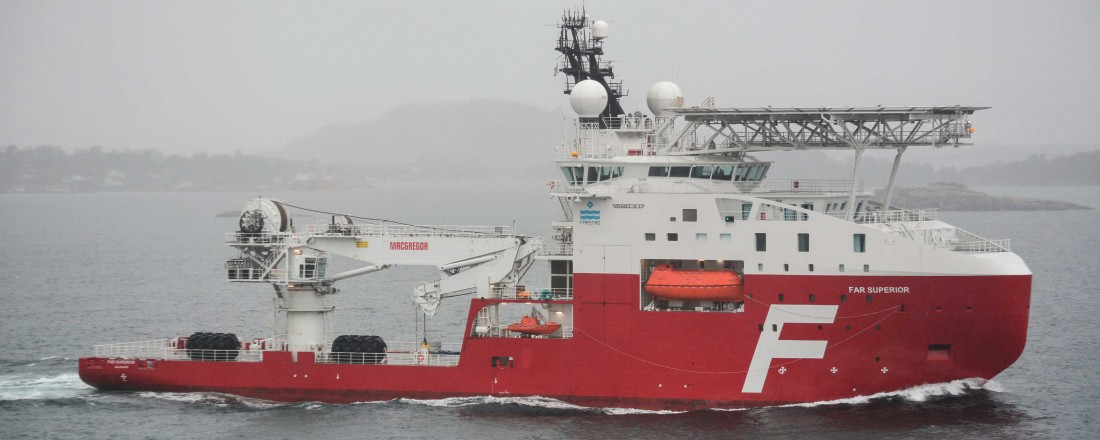 Far Superior, bygd av Vard Vung Tau, ble det siste skipet levert til Farstad Shipping. Foto: Øyvind Håland