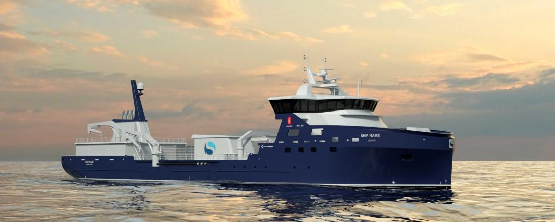 Nybygget frå Myklebust til Sølvtrans er av Kongsberg NVC 389-design. Ill: Kongsberg Maritime