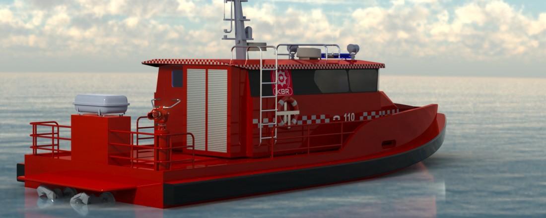 Mare Safety signert fleire nye kontraktar den siste tida, mellom anna ein ny brannbåt spesialbygd for å stette krava til oppdragsgjevar, Kristiansand Brann og Redning. Foto: Mare Safety.