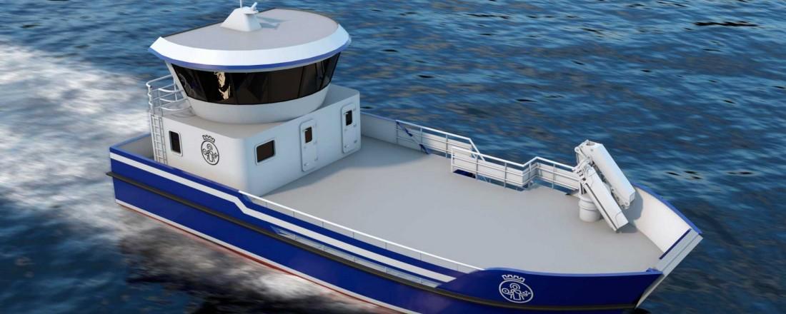 Hellesøy Verft skal bygge driftsbåt for Oslo kommune. Ill: Wärtsilä Ship Design