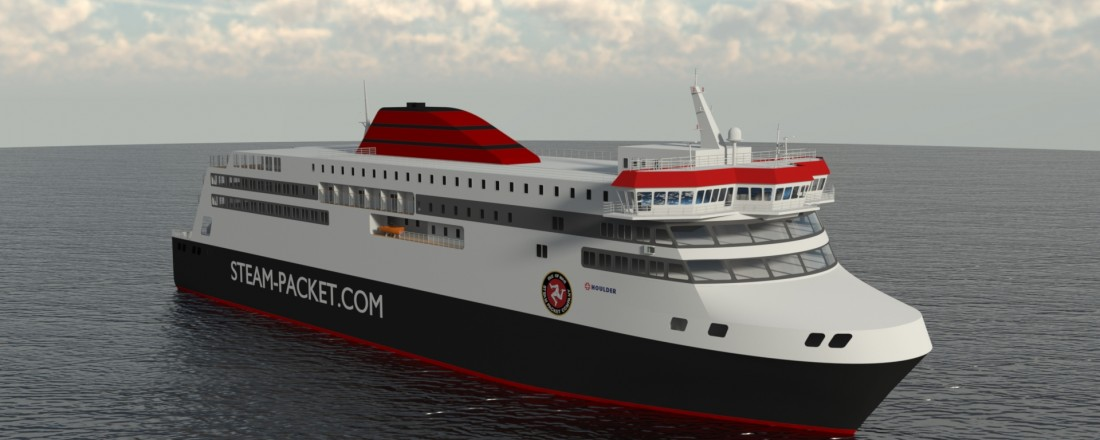 The new IOMSP ferry, the 'Manxman', will operate with a comprehensive range of Wärtsilä solutions. Ill: Wärtsilä.
